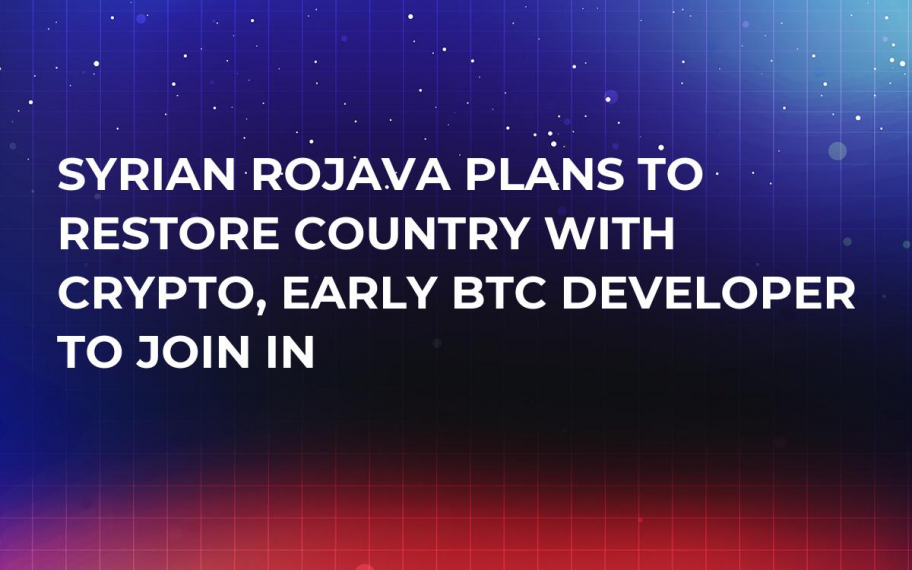 Syrian Rojava Plans to Restore Country with Crypto, Early BTC Developer to Join In