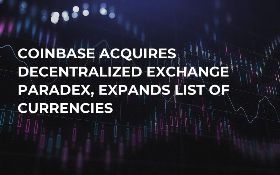 Coinbase Acquires Decentralized Exchange Paradex, Expands List of Currencies