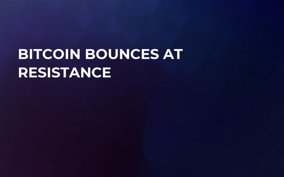 Bitcoin Bounces at Resistance