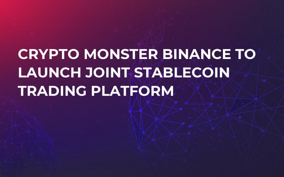 Crypto Monster Binance to Launch Joint Stablecoin Trading Platform