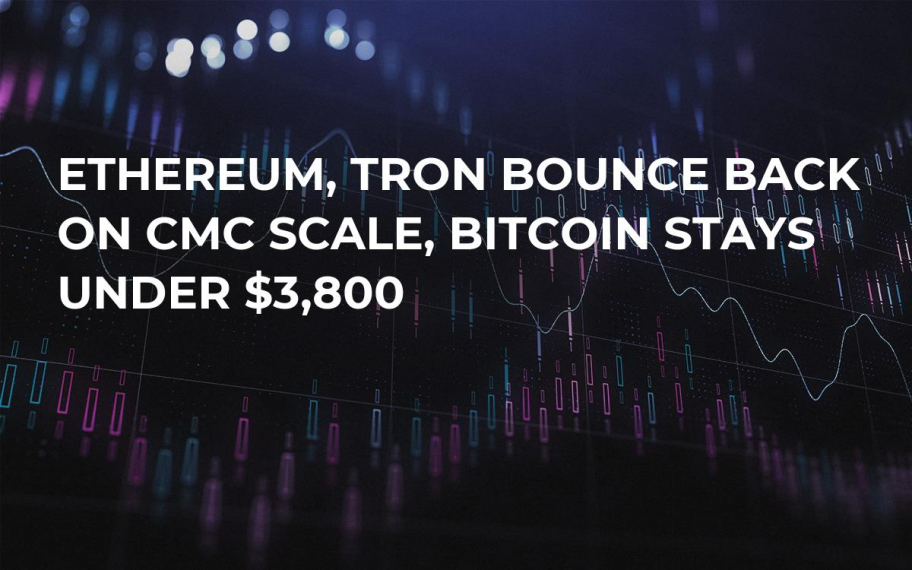 Ethereum, Tron Bounce Back on CMC Scale, Bitcoin Stays Under $3,800