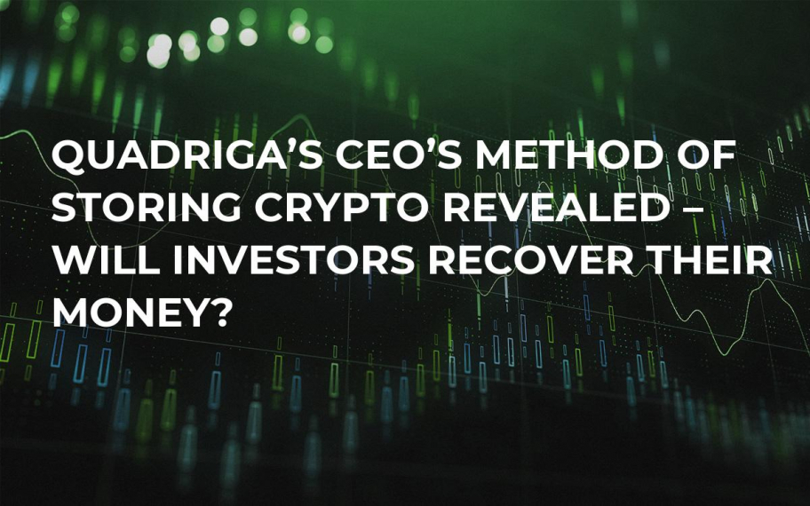 Quadriga's CEO's Method of Storing Crypto Revealed – Will Investors Recover Their Money?