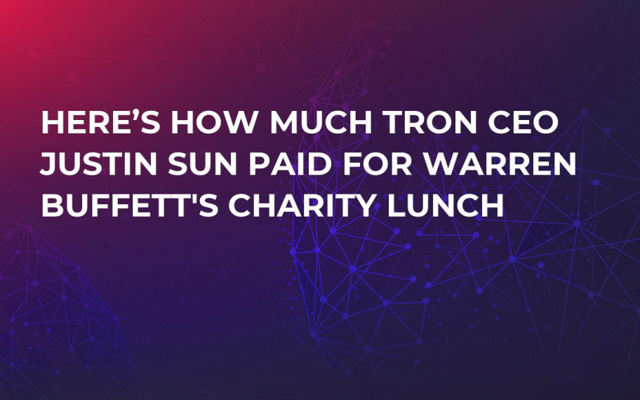 Here's How Much Tron CEO Justin Sun Paid for Warren Buffett's Charity Lunch