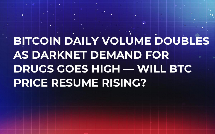 Bitcoin Daily Volume Doubles as Darknet Demand for Drugs Goes High — Will BTC Price Resume Rising?