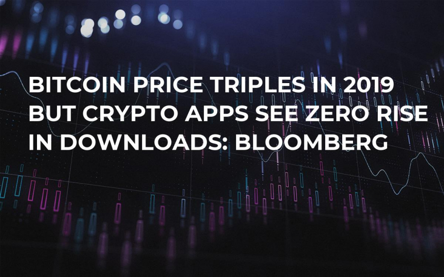 Bitcoin Price Triples in 2019 But Crypto Apps See Zero Rise in Downloads: Bloomberg