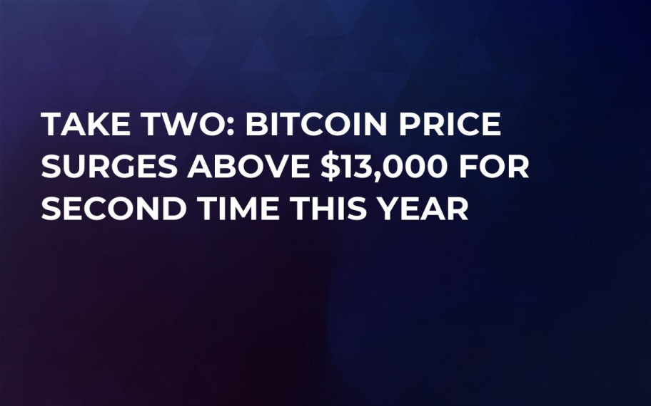 Take Two: Bitcoin Price Surges Above $13,000 for Second Time This Year