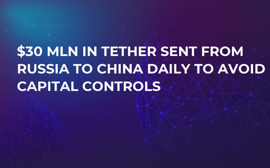 $30 Mln in Tether Sent From Russia to China Daily to Avoid Capital Controls