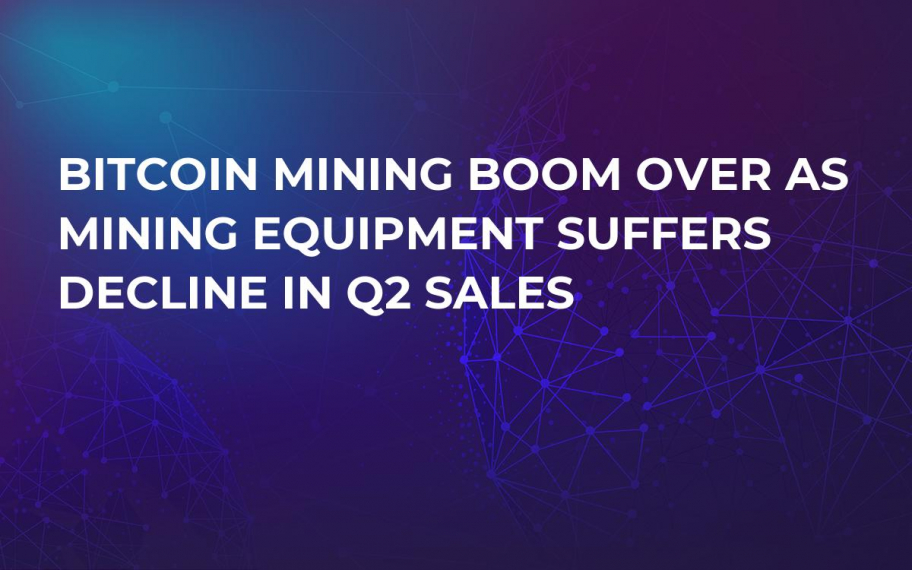 Bitcoin Mining Boom Over as Mining Equipment Suffers Decline in Q2 Sales