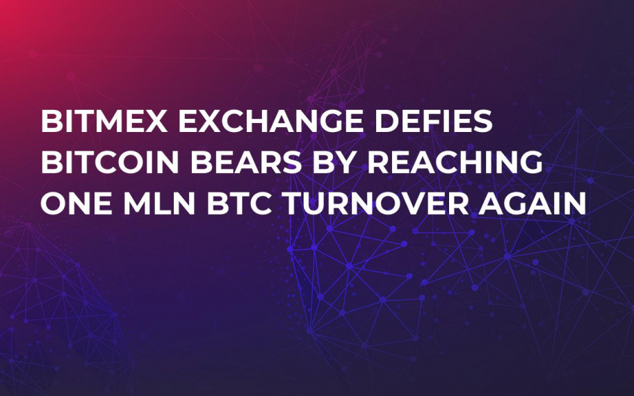 BitMEX Exchange Defies Bitcoin Bears by Reaching One Mln BTC Turnover Again