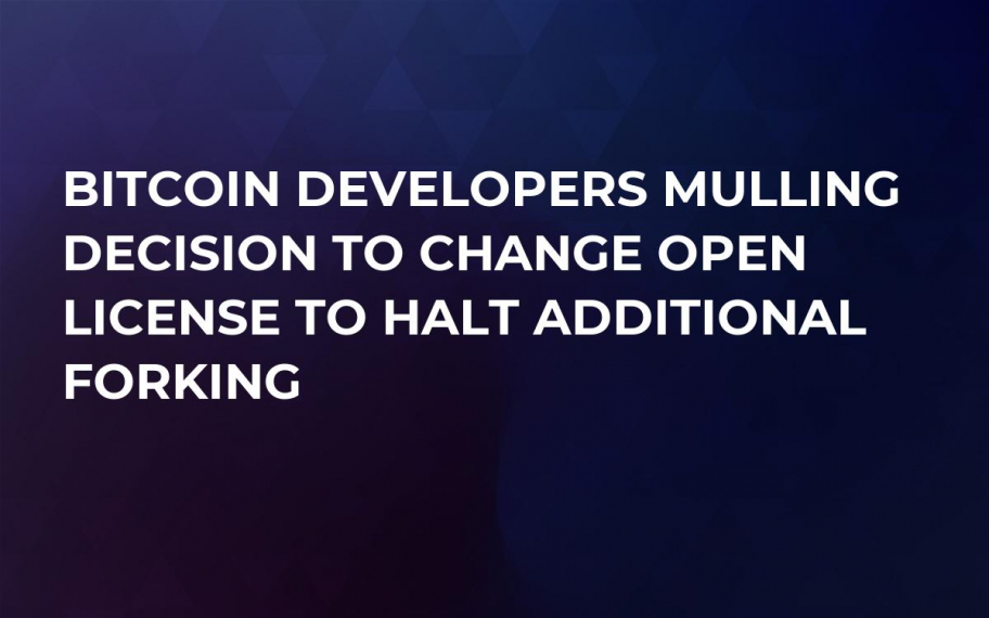 Bitcoin Developers Mulling Decision to Change Open License to Halt Additional Forking