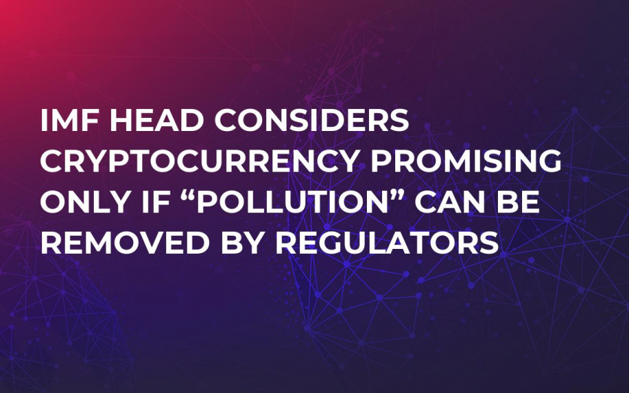"IMF Head Considers Cryptocurrency Promising Only if ""Pollution"" Can Be Removed by Regulators"