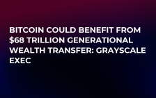 Bitcoin Could Benefit from $68 Trillion Generational Wealth Transfer: Grayscale Exec