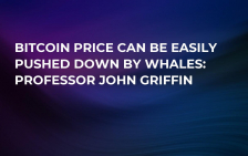 Bitcoin Price Can Be Easily Pushed Down by Whales: Professor John Griffin